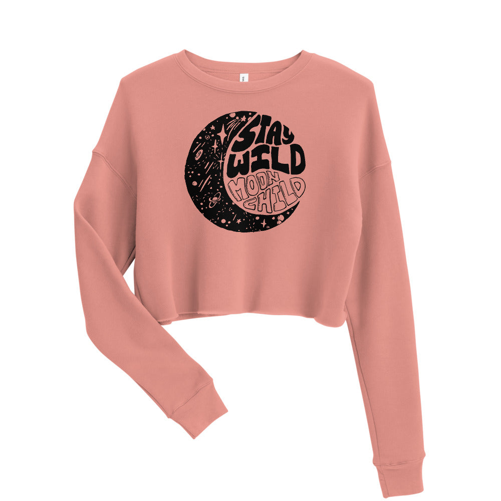 Stay Wild Moon Child Crop Sweatshirt