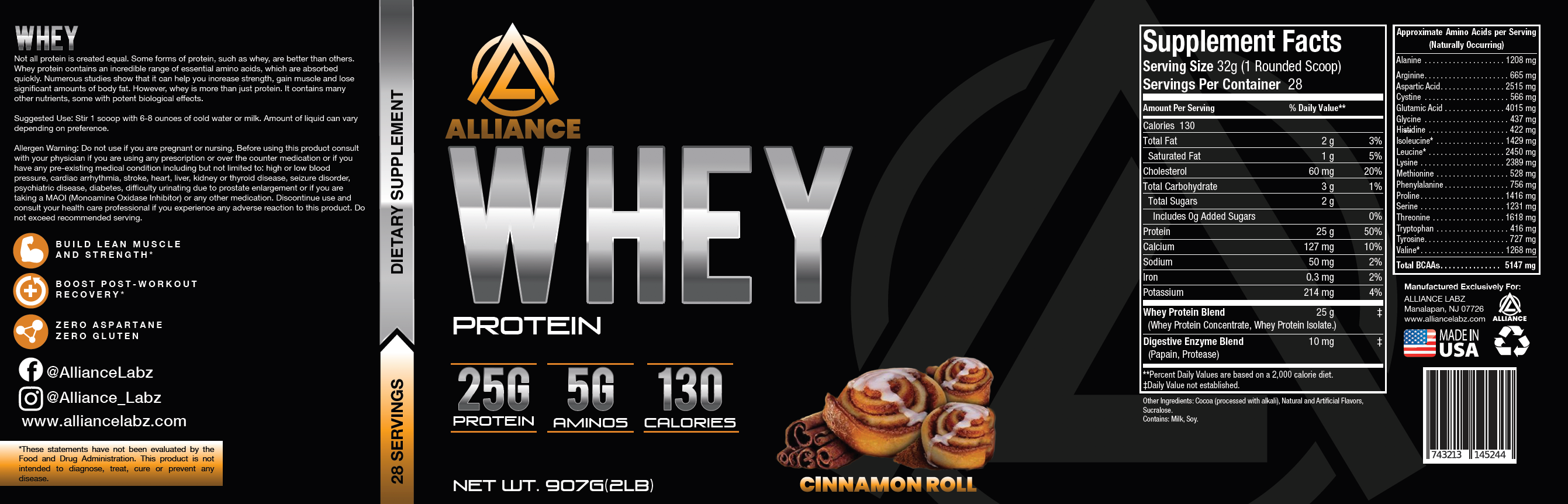 Whey Protein Cinnamon Roll - Facts