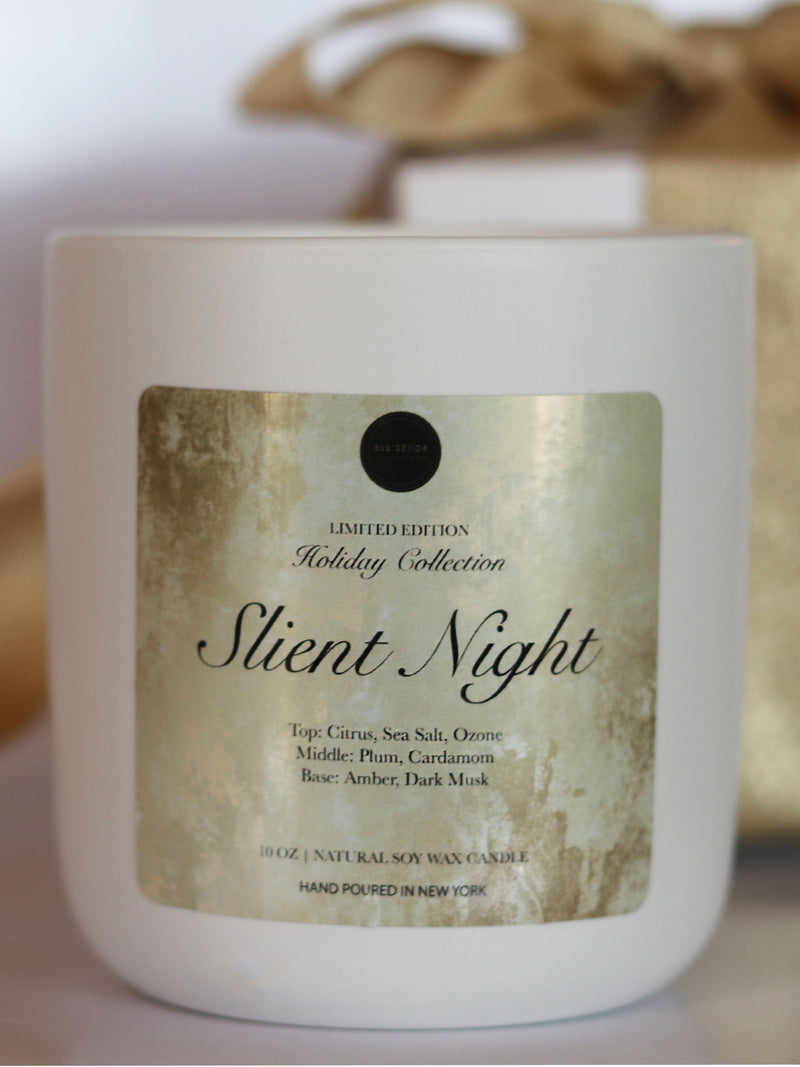 Silent Night Holiday Candle