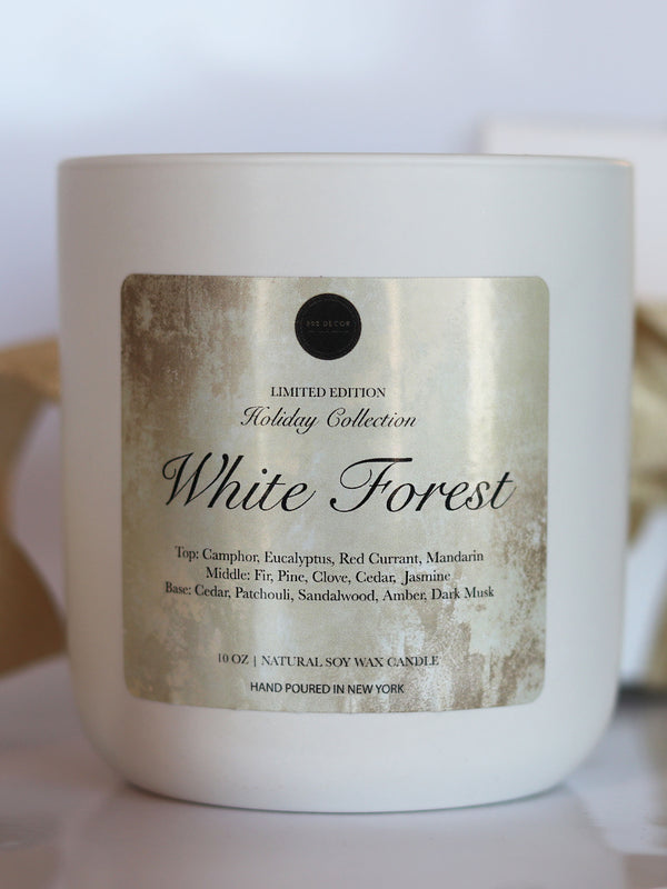 White Forest Holiday Candle