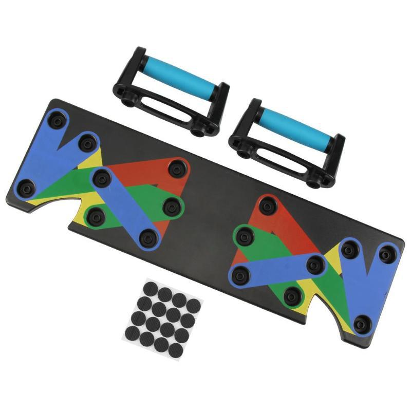 Nine-function push-up board bracket for indoor gym