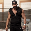 Wing embroidery fitness sweater vest