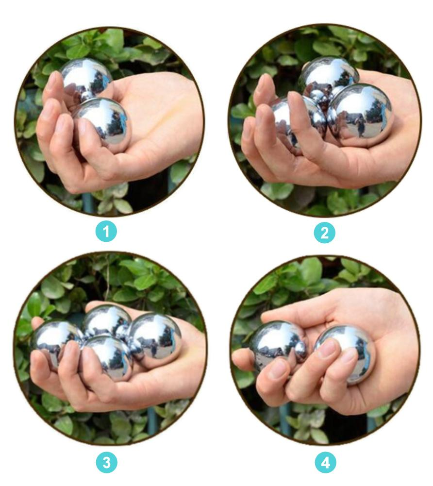Stainless Steel Hollow Fitness Ball