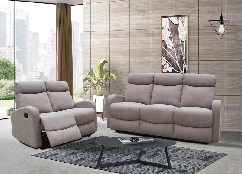 Verona 3+2 Recliner Set - Beige