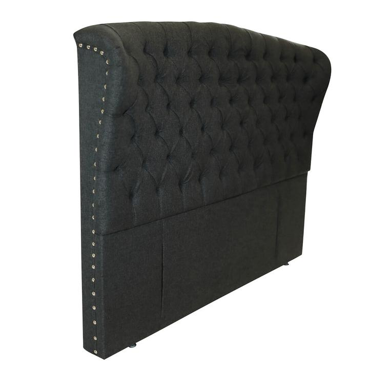 Tufted Head Board Charcoal