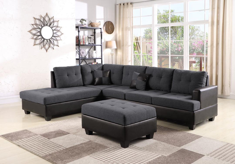 Ashton Reversible Sofa with Ottoman