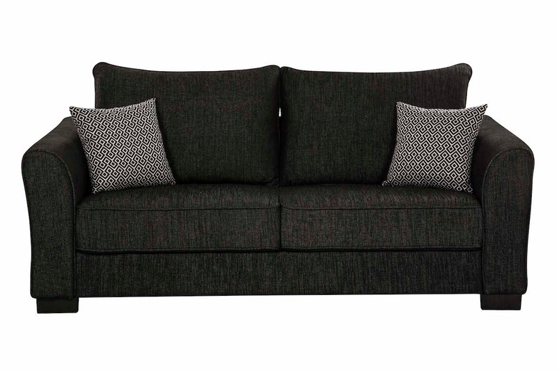 Darcey 3 Pc Lounge Suite - Black