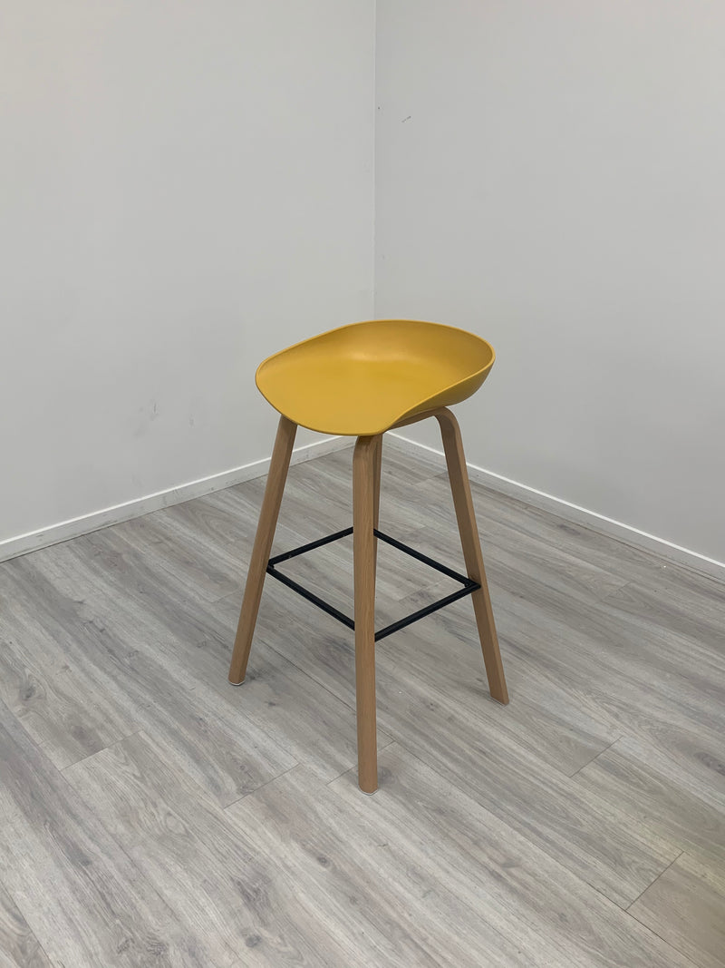 Block Bar Stool - Mustard
