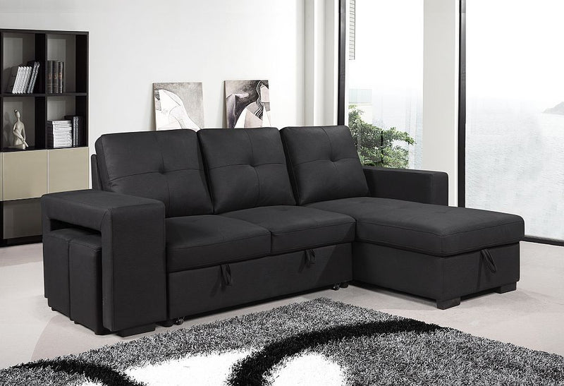 Rolleston Reversible Sofa Bed Black