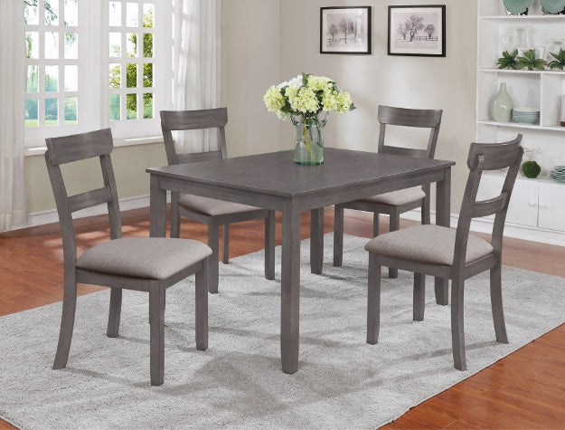 Henderson  Gray 5 Piece Table Set