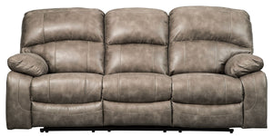 Dunwell Driftwood Power Reclining Sofa/Couch with Adjustable Headrest