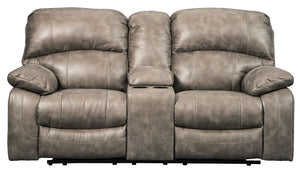Dunwell Driftwood Power Reclining Loveseat/Console/Adjustable HDRST