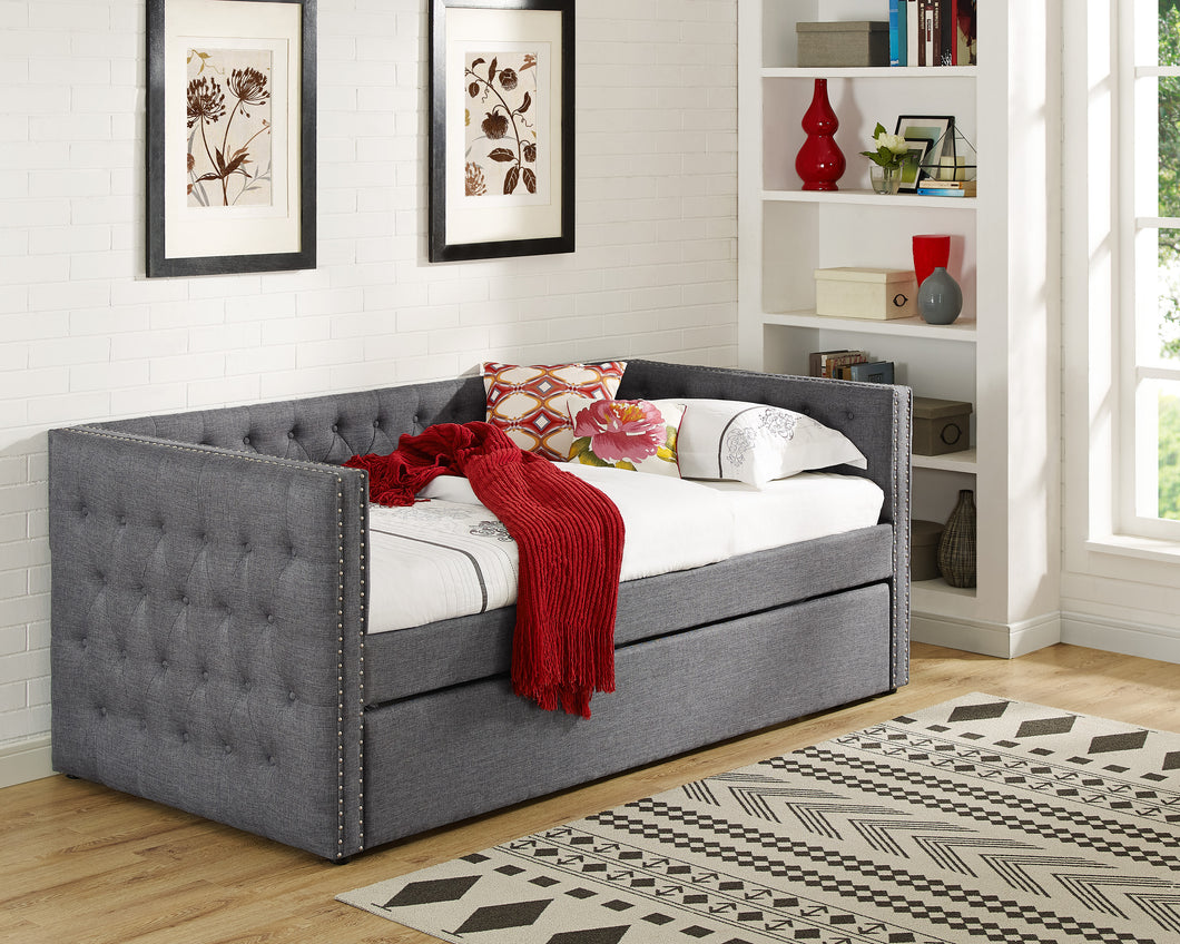 Crown Mark Trina Gray Day Bed w/Trundle