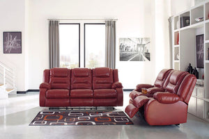 Vacherie Salsa Reclining Sofa/Couch & Double Reclining Loveseat with Console