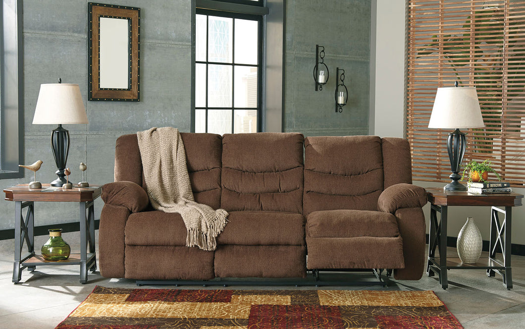 Tulen Chocolate Reclining Sofa/Couch