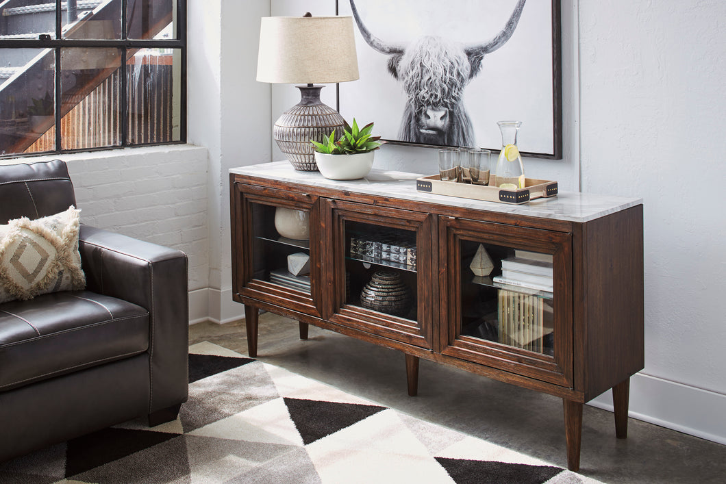 Graybourne Brown Accent Cabinet