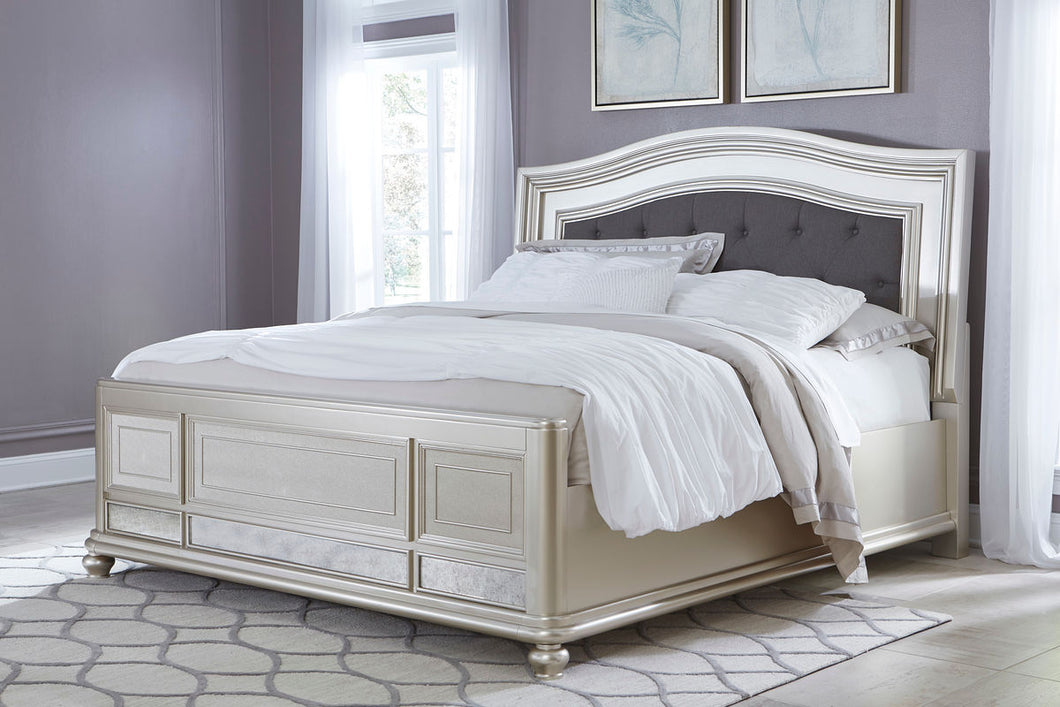 Coralayne Queen Upholstered Panel Bed