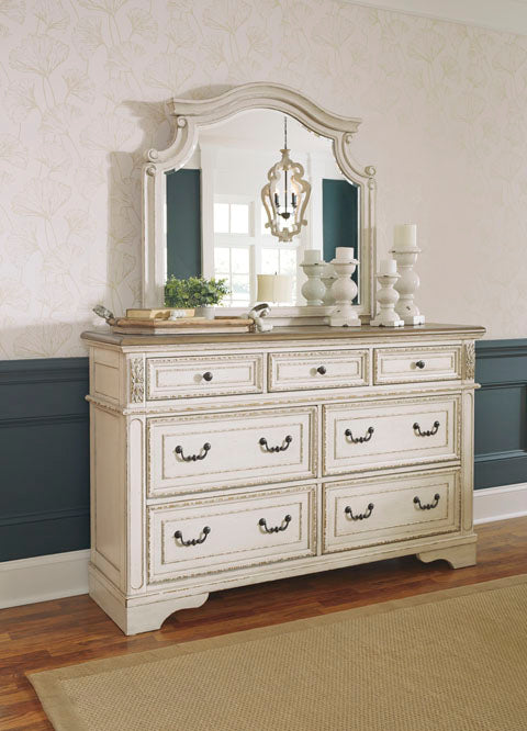 Realyn Two-Tone Dresser & Mirror