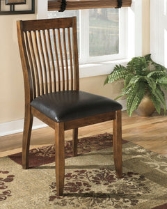 Stuman Medium Brown Dining UPH Side Chair (set of 2)