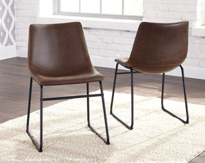 Centiar Brown/Black Dining UPH Side Chair (set of 2)