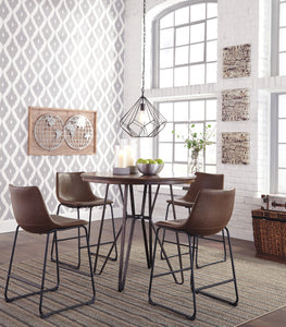 Centiar Two-tone Brown 5 Pc. Round Counter Height Dining Set