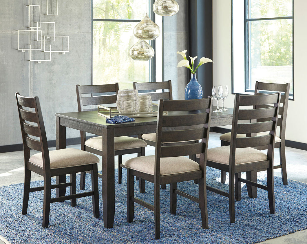 Rokane Brown 7 Piece Dining Set