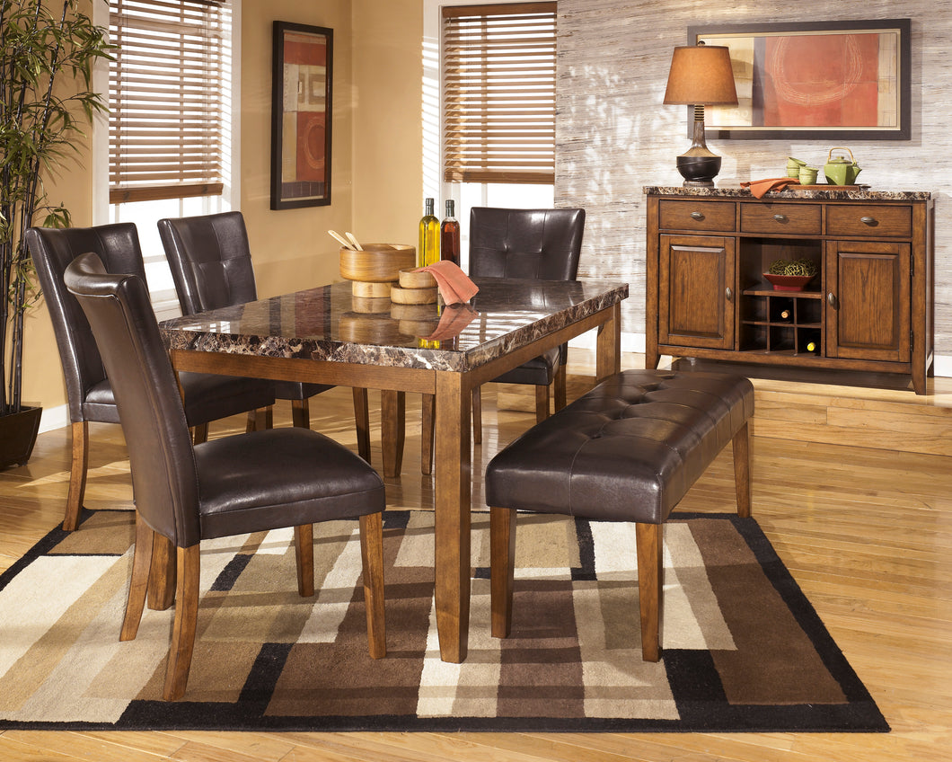 Lacey Medium Brown 6 Piece Rectangular Dining Set