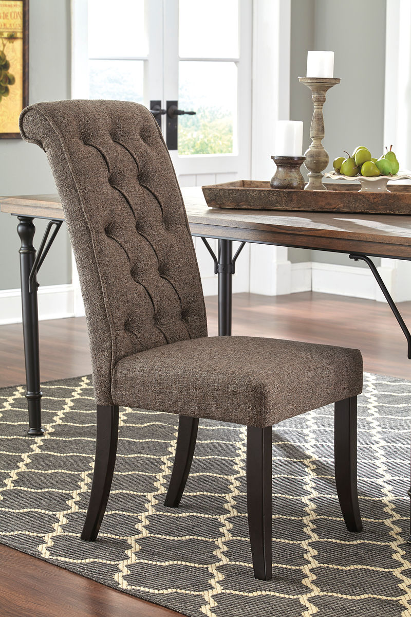 Tripton Graphite Dining UPH Side Chair (set of 2)