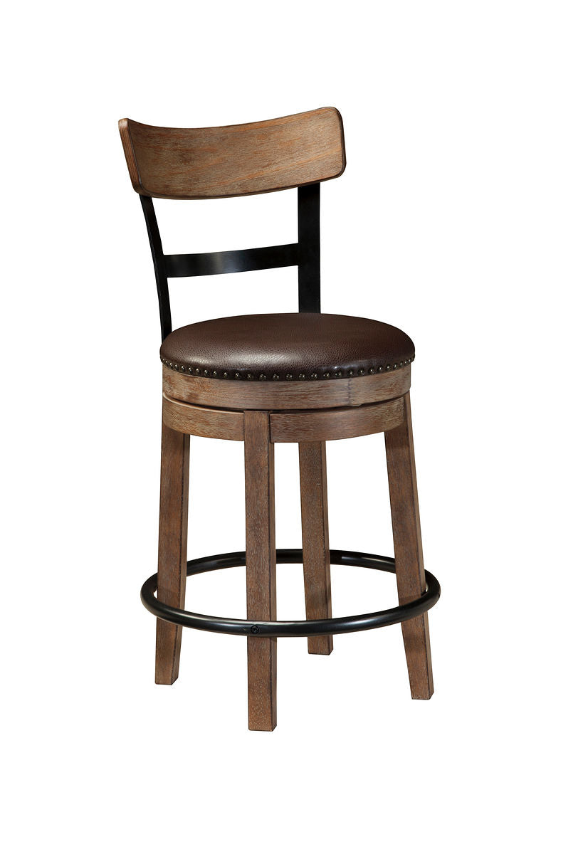 Pinnadel Light Brown UPH Swivel Barstool