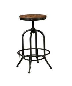 Pinnadel Light Brown Tall Swivel Stool (set of 2)