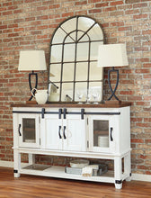 Load image into Gallery viewer, Valebeck White/Brown Dining Room Server