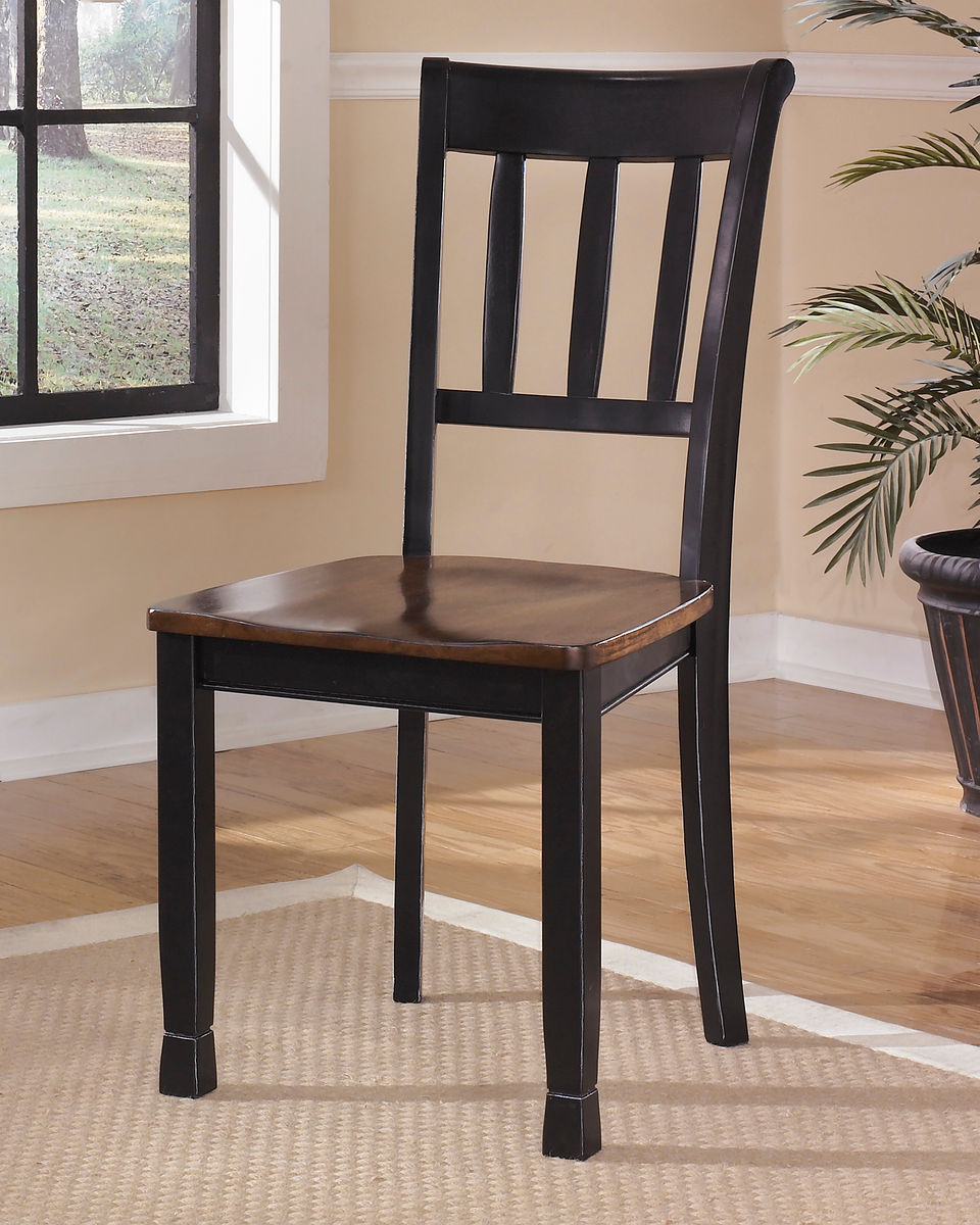 Owingsville Black/Brown Dining Room Side Chair (set of 2)
