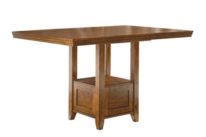 Ralene Medium Brown Rectangular Dining Room Counter Extension Table