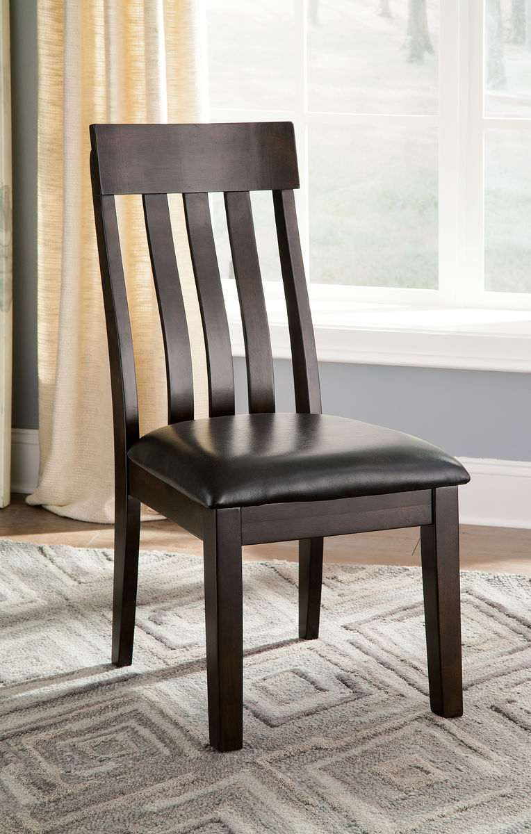 Haddigan Dark Brown Dining UPH Side Chair (set of 2)