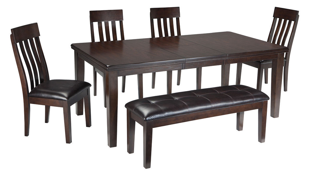 Haddigan Dark Brown 6 Pc. Rectangular Extension Dining Set
