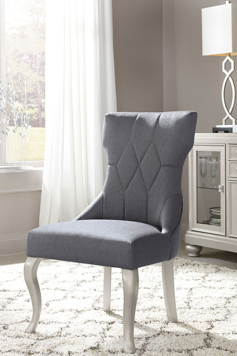 Coralayne Dark Gray Dining UPH Side Chair (set of 2)