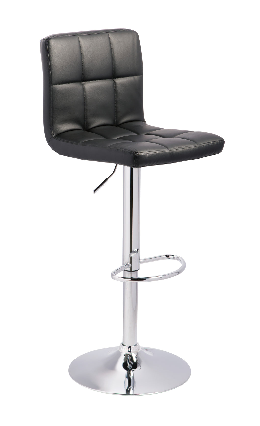 Bellatier Black/Chrome Finish Tall UPH Swivel Barstool(set of 2)