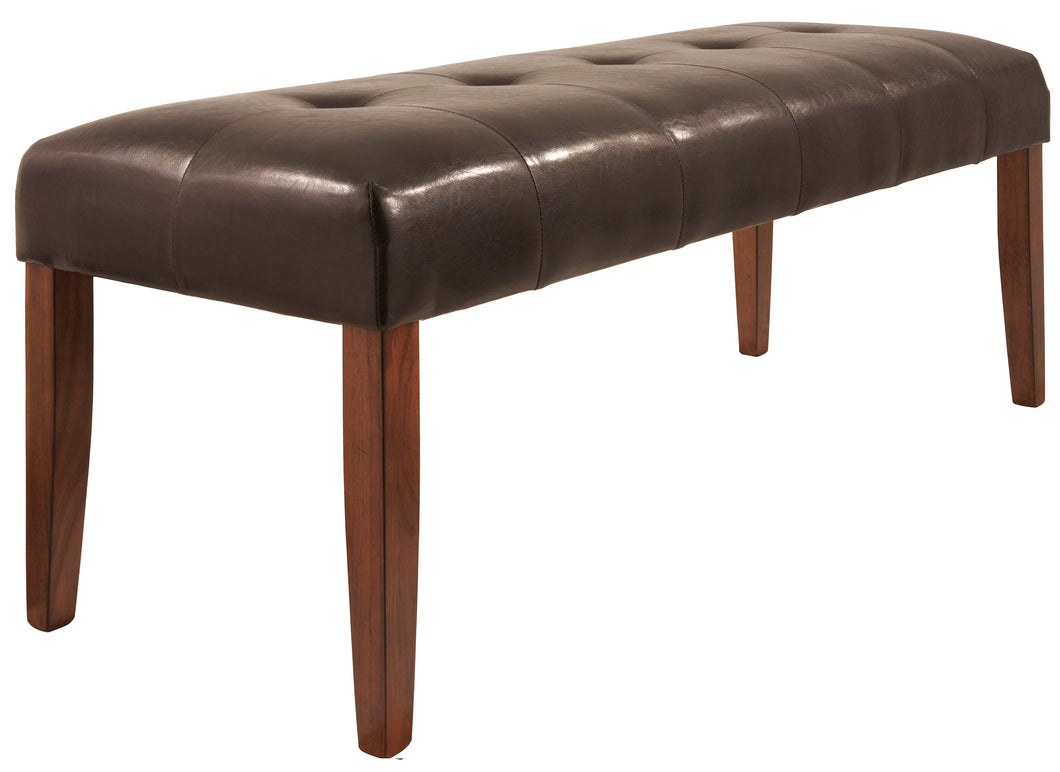 Lacey Medium Brown Large Upholstered Dining Room Bench
