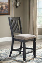 Load image into Gallery viewer, Tyler Creek Black/Gray 7 Pc. Rectangular Counter Height Dining Set
