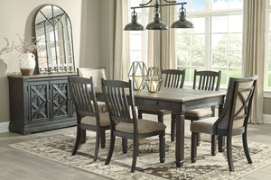 Tyler Creek Black/Gray 8 Piece Rectangular Dining Set