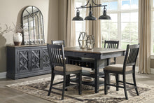 Load image into Gallery viewer, Tyler Creek Black/Gray 6 Pc. Rectangular Counter Height Dining Set