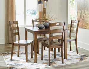 Hazelteen Medium Brown 5 Piece Square Table Set