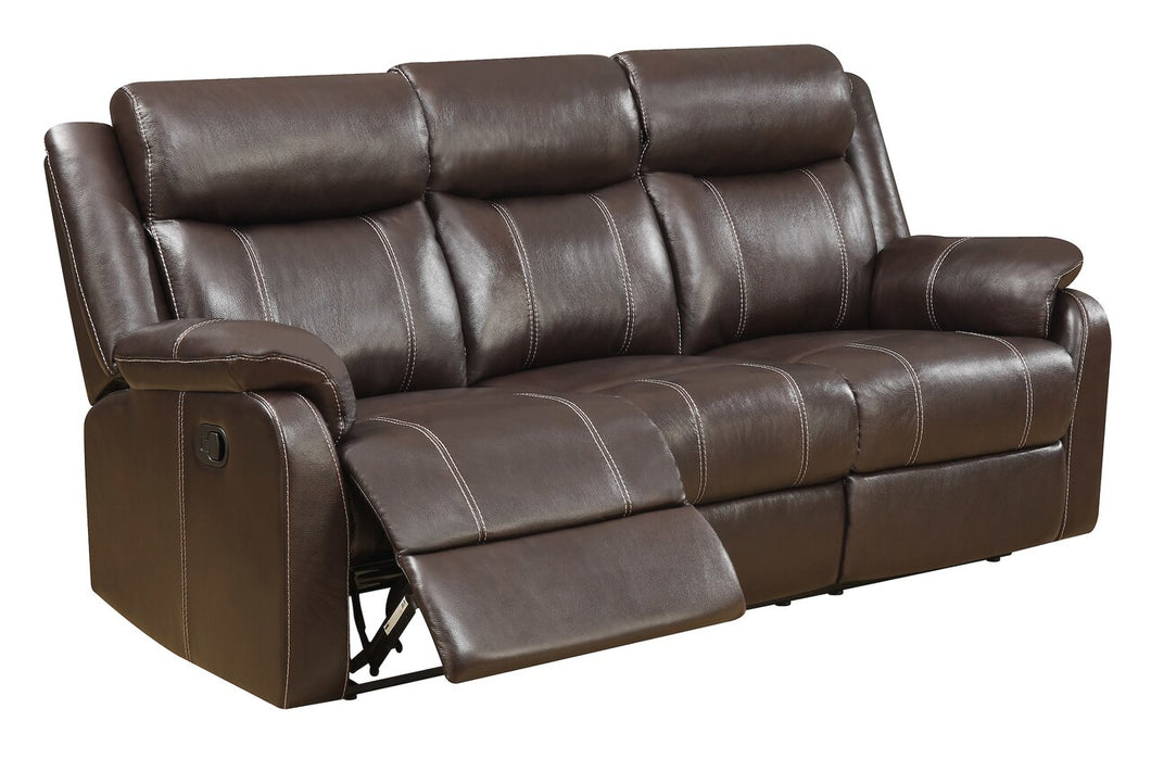 Domino Chocolate Reclining Sofa & Loveseat