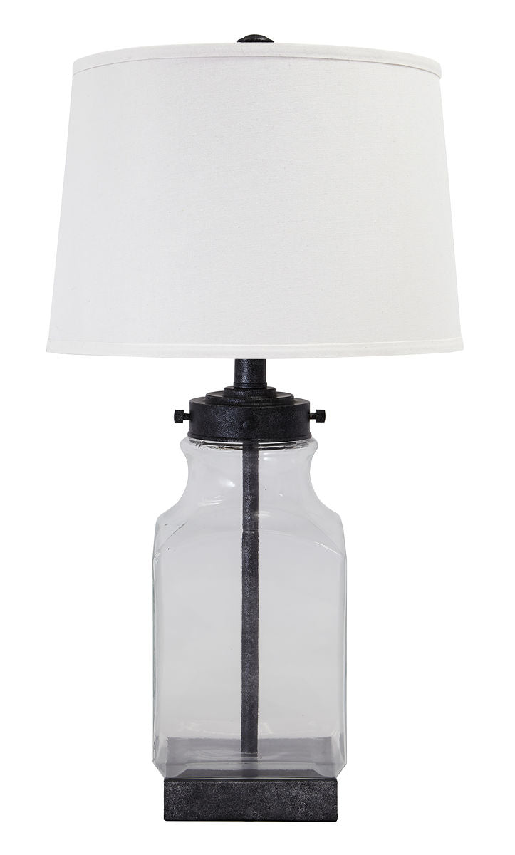 Sharolyn Transparent/Silver Finish Glass Table Lamp