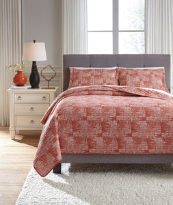 Jabesh Orange King Quilt Set