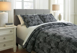 Jabesh Black Queen Quilt Set