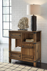 Roybeck Light Brown/Bronze Accent Cabinet