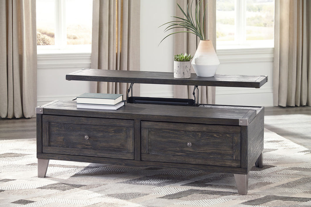 Todoe Dark Gray Lift Top Cocktail Table