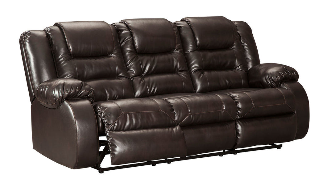 Vacherie Chocolate Reclining Sofa/Couch
