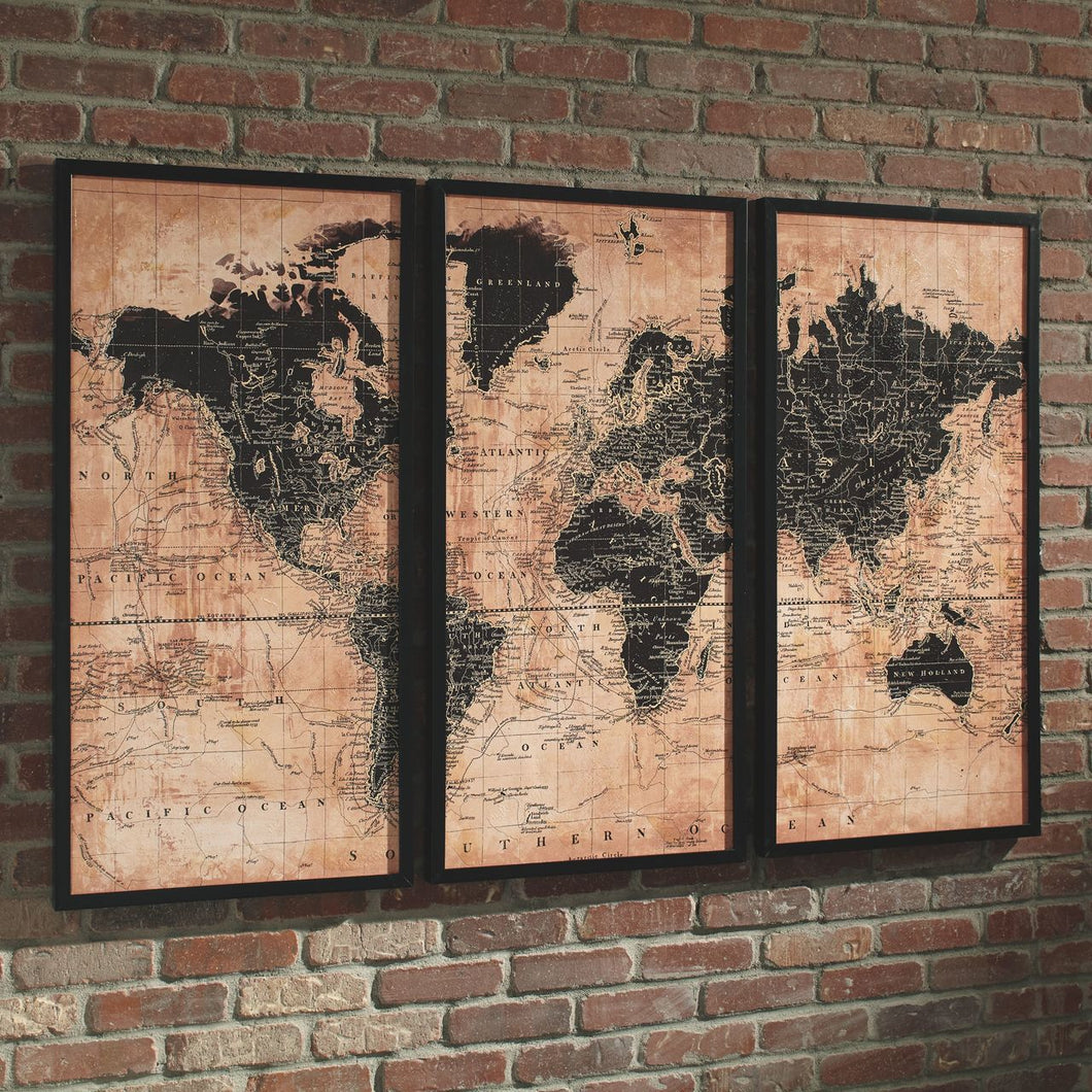 Pollyanna Tan/Black Wall Art Set (3/CN)